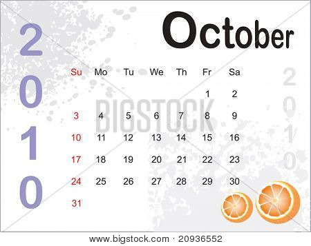 abstract grungy calender illustration for 2010