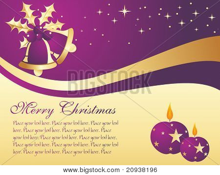 nice xmas wallpaper with bell and candle