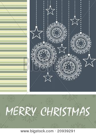 abstract merry christmas background with hanging object
