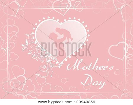 abstract macro background with silhouette in heart shape