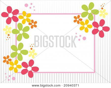 abstract colorful blossom card for valentine day