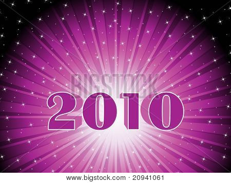 abstract purple shiny rays background with new year wallpaper