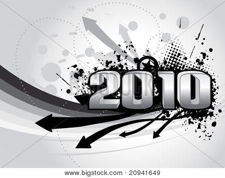 abstrato base de listras com ponta de seta grungy, 2010