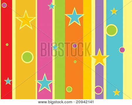 abstract colorful lines background with circle, star