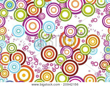 abstract white background with colorful circle