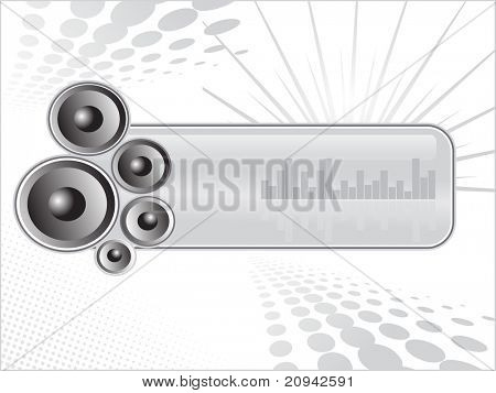 abstract dotted background with vinyl