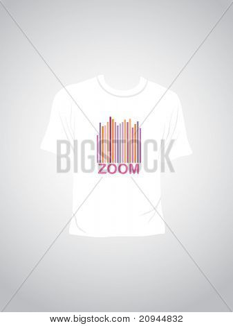 abstract background with isolated tshirt, vector illustration