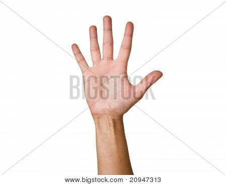 Female hand with outstretched fingers