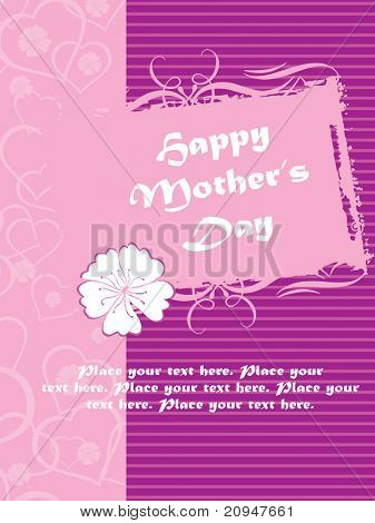 abstract design card, vector mother day illustration