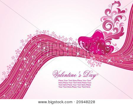 abstract stripes background with decorated romantic heart