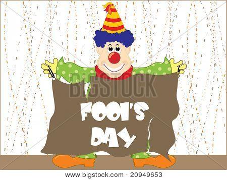 joker showing fools day banner