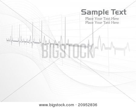 abstract grey heart beat, wavy background for doctor day