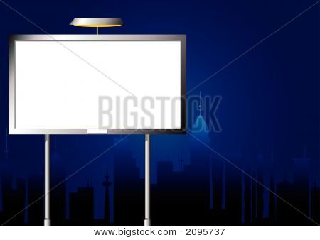 Advertising Billboard By Night