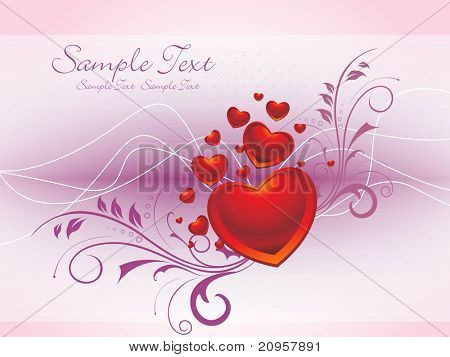 beautiful romantic illustration for valentine day