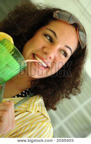 Cute Lemonade Drinker