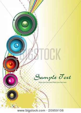 vector illustration of music background with musical object