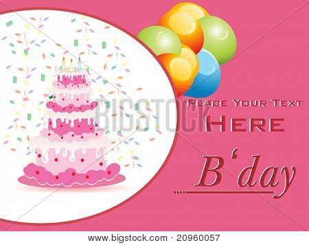 greeting card for happy birthday