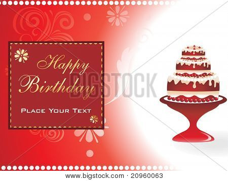 beautiful pattern greeting card for happy birthday