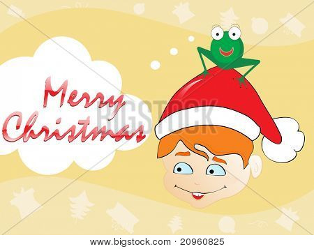 background for merry christmas celebration, vector illustration