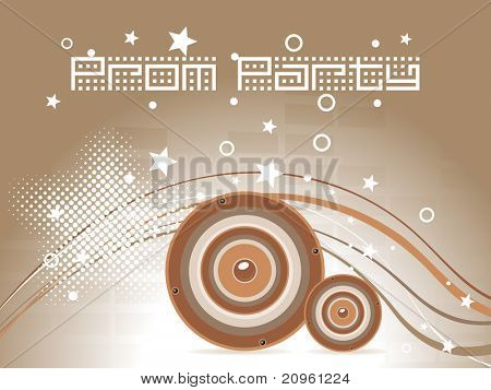 illustration of prom party background