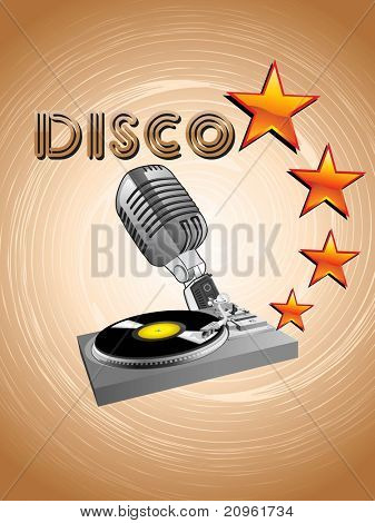 vector illustration of stylish disco background