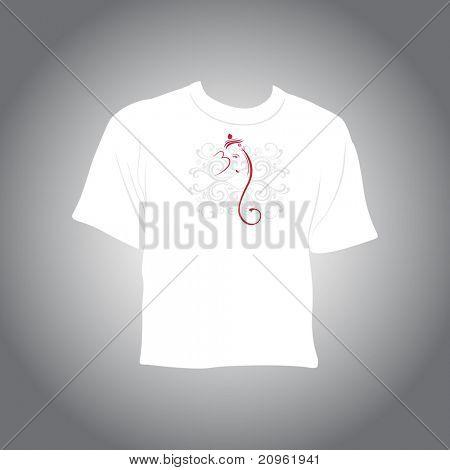 diwali pattern tshirt isolated on grey background