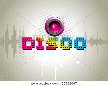 illustration of grungy disco background
