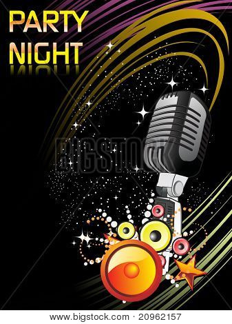 vector illustration of digital party night background