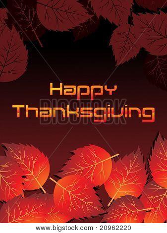 fundo de outono bonito para o dia de ação de graças feliz