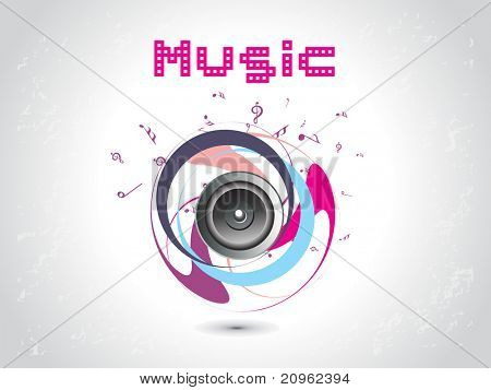 vector illustration of elegant musical background