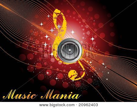 abstract shiny music mania background, illustration