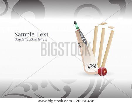 Ilustración abstracta de fondo de cricket