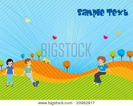 abstract kiddish background, vector illustration