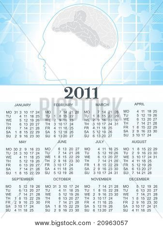 2011 calender for medical sector, illustration