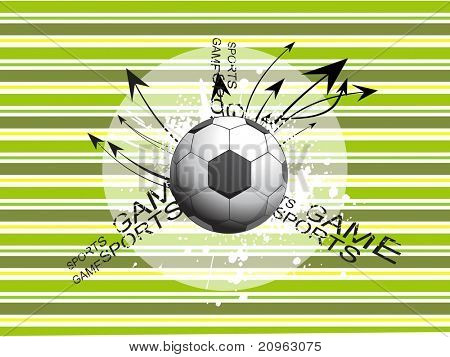 abstract background with grungy soccer and curve arrows