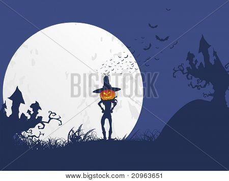 halloween concept background, illustration