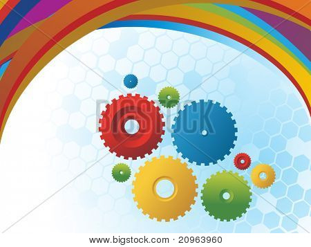 vector illustration of colorful corporate background