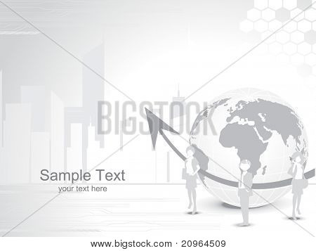 abstrato futurista com seta e Globo