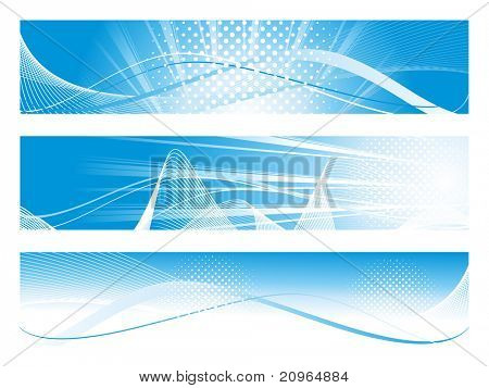 background with set of header, illustration