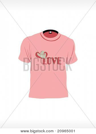 background with isolated romantic design tshirt, vector illustration