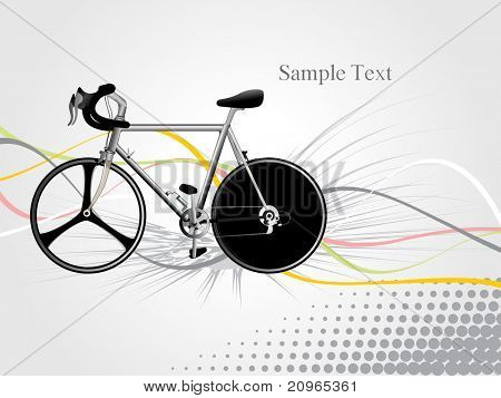 abstrato cinzento com listras coloridas, isolada de bicicleta