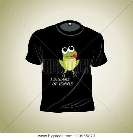 vector illustration of isolated tshirt with grey background