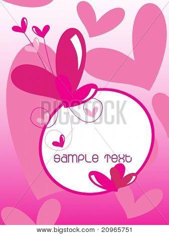 vector illustration of abstract love background