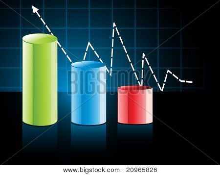 colorful business growth concept background, illustration