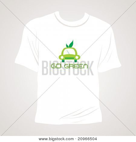 abstract grey background with isolated white tshirt