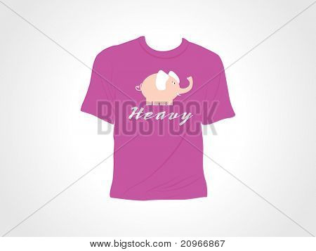 abstract background with isolated tshirt