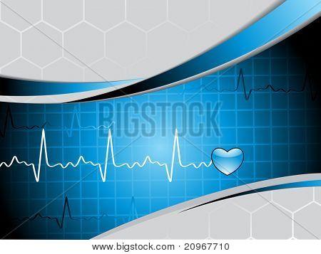 Ilustración de vector de antecedentes médicos