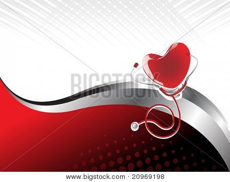 abstract medical heart beat background with heart