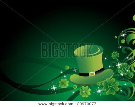 beautiful creative background with leprechaun hat for patrick day