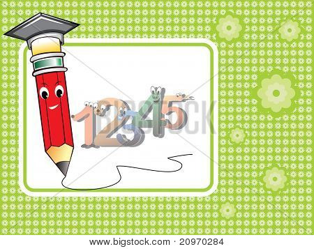 abstract education element background, vector elements